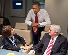 Chancellor Folt with President Obama